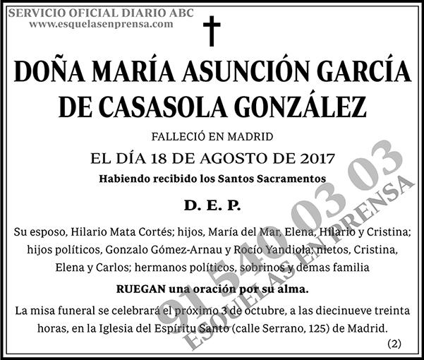 María Asunción García de Casasola González